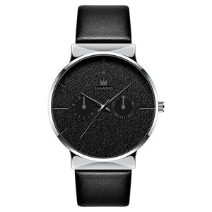 Dark Rust-Chronograaf horloge heren-Space Silver-TrendBody