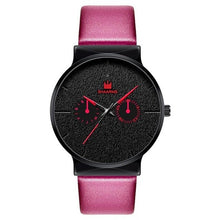 Afbeelding in Gallery-weergave laden, Dark Rust-Chronograaf horloge heren-Pink Black-TrendBody