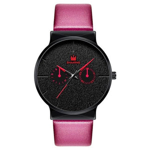Dark Rust-Chronograaf horloge heren-Pink Black-TrendBody