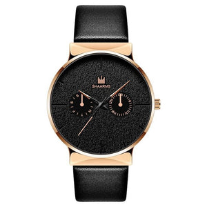 Dark Rust-Chronograaf horloge heren-Space Gold-TrendBody