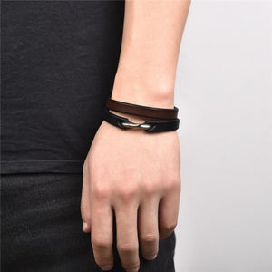 Leather Genie-Leren armband unisex-Space Black-TrendBody