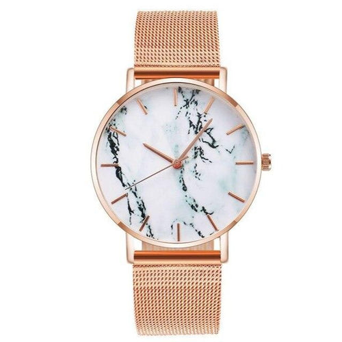 Marble Age-Analoog horloge dames-Rose Gold-TrendBody