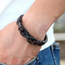 Load image into Gallery viewer, Power Infinity-Leren armband heren-Leren armband-TrendBody