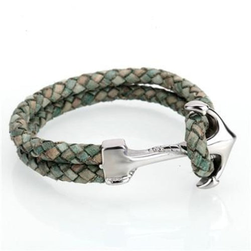 Luxury Anchor-Leren armband heren-Leren armband-Jungle Green-TrendBody