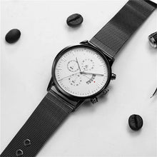 Afbeelding in Gallery-weergave laden, Mister Elegance-Chronograaf horloge heren-Space Black-TrendBody