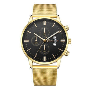 Mister Elegance-Chronograaf horloge heren-Royal Black-TrendBody