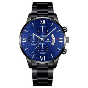 Past The Clock-Chronograaf horloge heren-Robuust horloge heren-Navy Silver-TrendBody