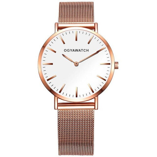 Reborn Eagle-Analoog horloge dames-Rose White-TrendBody