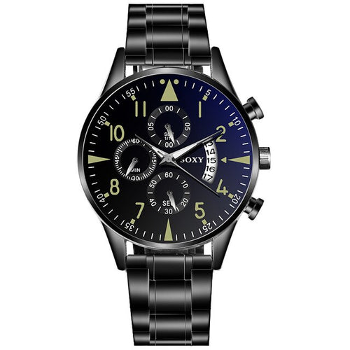 Active Class Luxe-Chronograaf horloge heren-Robuust horloge heren-Space Black-TrendBody
