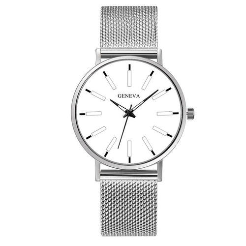 Divine Reality-Analoog horloge dames-Platinum White-TrendBody