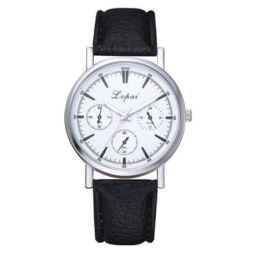 Leather Uptime-Chronograaf horloge dames-Leren horloge dames-Space Black-TrendBody