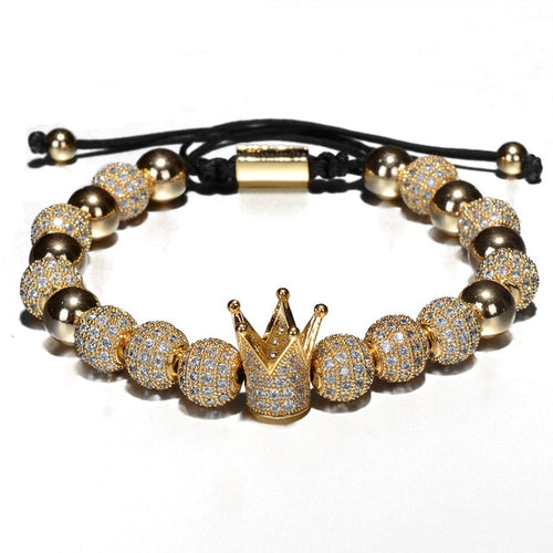Micro King-Gouden armband dames-Royal Gold-TrendBody