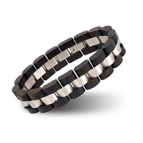 Wooden Pulse-Houten Armband Heren-Houten armband-Space Black-TrendBody