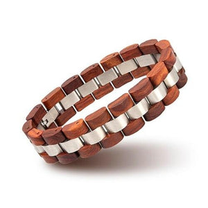 Wooden Pulse-Houten Armband Heren-Houten armband-Flame Red-TrendBody
