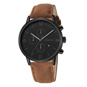 Delighted Richness-Chronograaf horloge heren-Minimalistisch horloge heren-Desert Black-TrendBody