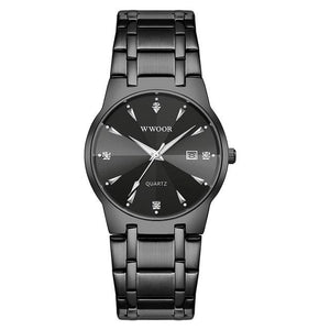 Diamond Mask-Analoog horloge heren-Minimalistisch horloge heren-Space Black-TrendBody