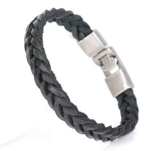 Arrow Sky-Leren armband heren-Space Black-TrendBody