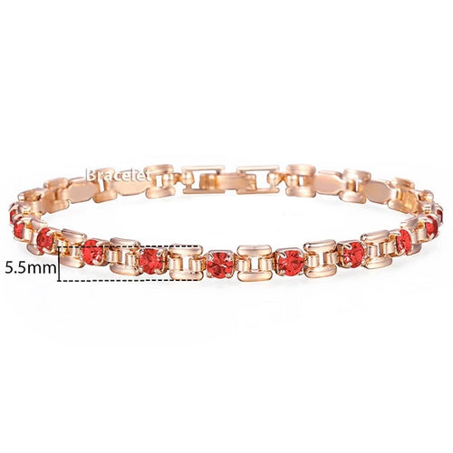 Red Ruby-Schakelarmband dames-Flame Red-TrendBody