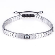 Afbeelding in Gallery-weergave laden, Woven Drop-Slavenarmband heren-Platinum Silver-TrendBody