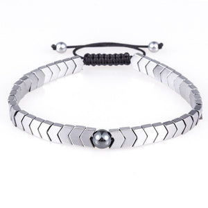 Woven Drop-Slavenarmband heren-Platinum Silver-TrendBody