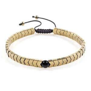 Woven Drop-Slavenarmband heren-Royal Gold-TrendBody