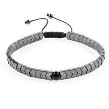 Afbeelding in Gallery-weergave laden, Woven Drop-Slavenarmband heren-Space Black-TrendBody