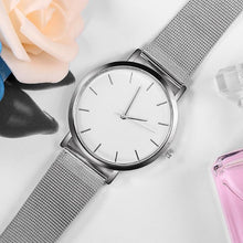 Afbeelding in Gallery-weergave laden, Pocket Classic-Analoog horloge dames-Space White-TrendBody