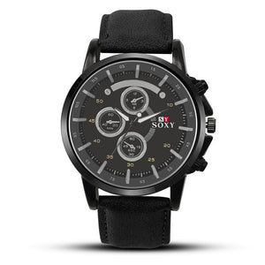 PU Military-Chronograaf horloge heren-Space Black-TrendBody