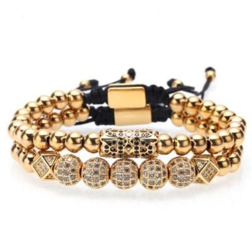 Beaded Victory-Gouden armband heren-Royal Gold-TrendBody