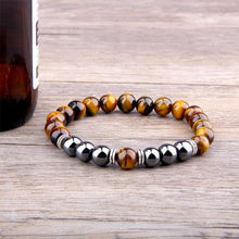 Afbeelding in Gallery-weergave laden, Tiger Eye-Kralen armband heren-23cm (Large)-TrendBody