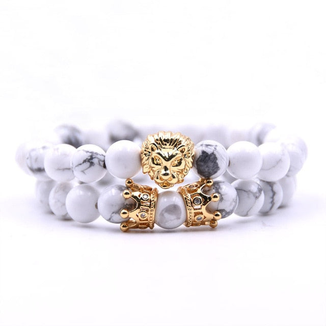 King Of Lions-Kralen armband heren-Kralen armband-Snow White-TrendBody
