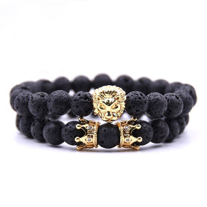 King Of Lions-Kralen armband heren-Kralen armband-Space Black-TrendBody