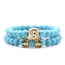 Afbeelding in Gallery-weergave laden, King Of Lions-Kralen armband heren-Kralen armband-Sky Blue-TrendBody