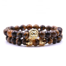 Afbeelding in Gallery-weergave laden, King Of Lions-Kralen armband heren-Kralen armband-Desert Brown-TrendBody
