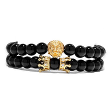 Afbeelding in Gallery-weergave laden, King Of Lions-Kralen armband heren-Kralen armband-Royal Black-TrendBody