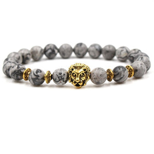 Animal Kingdom-Kralen armband heren-Kralen armband-Gold Lion-TrendBody
