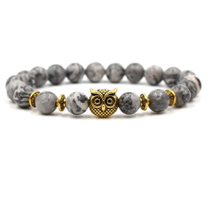 Animal Kingdom-Kralen armband heren-Kralen armband-Gold Owl-TrendBody