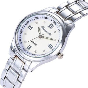 The Elite-Analoog horloge dames-Platinum Silver-TrendBody
