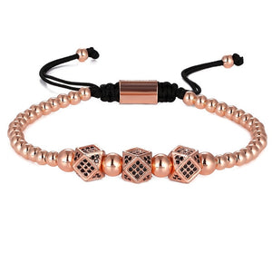 Luxury Block-Gouden armband dames-Gouden armband-Rose Gold-TrendBody