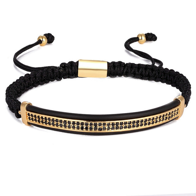 Luxury Saffire-Leren armband dames-Leren armband-Royal Gold-TrendBody