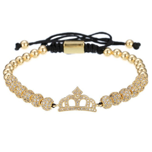Queen Lux-Gouden armband dames-Royal Gold-TrendBody
