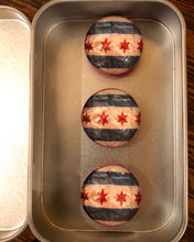 Load image into Gallery viewer, Chicago Flag Magnets & Wine Stopper