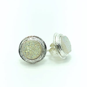 Druze Stud Earrings