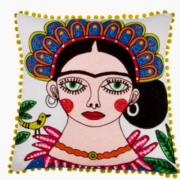 Frida Kahlo Accent Pillow