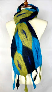 Felted Feather Scarf