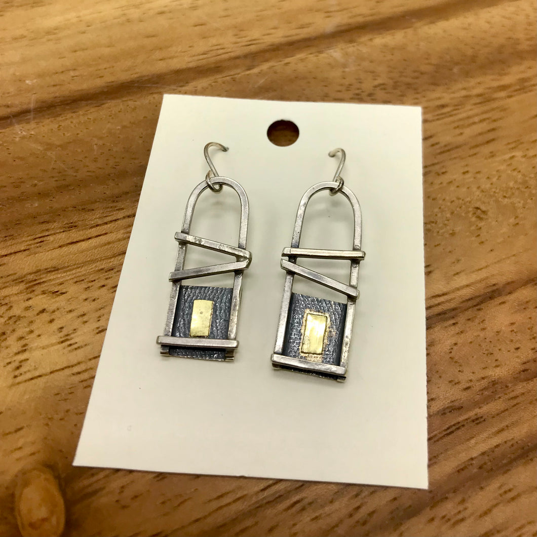 Silver & Gold Abstract Earrings