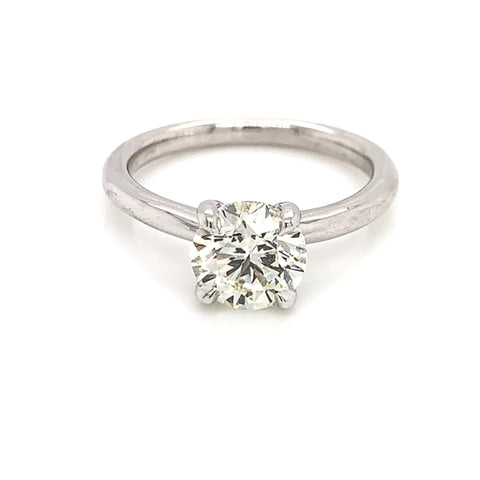 Traditional White Gold Solitaire, Size 7