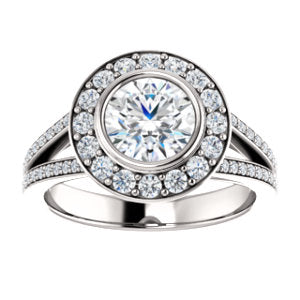 Bezel-Bridge Halo Ring