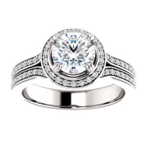 Accented Halo Ring