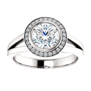 Bezel-set Halo Ring